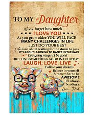 Never Forget How Much I Love U Pig Dad To Daughter 11x17 Poster front