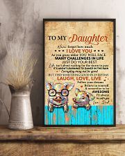 Never Forget How Much I Love U Pig Dad To Daughter 11x17 Poster lifestyle-poster-3