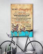 Never Forget How Much I Love U Pig Dad To Daughter 11x17 Poster lifestyle-poster-7