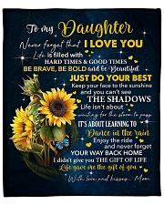 """Sunflower Never 4get I Love U Mom To Daughter Fleece Blanket - 50"""" x 60"""" front"""