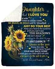 "Sunflower Never 4get I Love U Mom To Daughter Sherpa Fleece Blanket - 50"" x 60"" thumbnail"