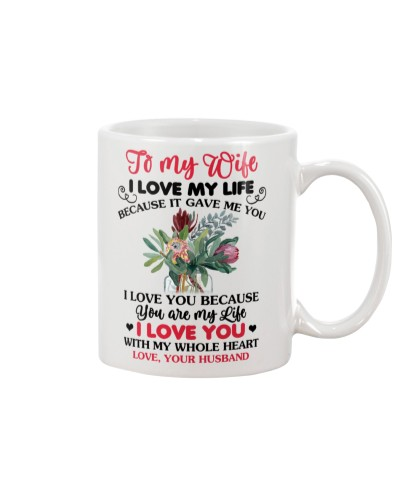To My Wife I Love You Because You Are My Life