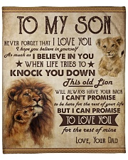 """Never Forget That I Love U Lion Dad To Son Fleece Blanket - 50"""" x 60"""" front"""