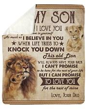 Never Forget That I Love U Lion Dad To Son Sherpa Fleece Blanket tile