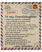 "I closed my eyss 4 moment Grandma-To-Granddaughter Fleece Blanket - 50"" x 60"" front"
