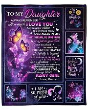 "Butterfly-Always Remember I Love U Mom-To-Daughter Fleece Blanket - 50"" x 60"" front"