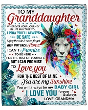 """You Are My Sunshine Grandma To Granddaughter Fleece Blanket - 50"""" x 60"""" front"""