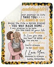I Pray U Will Be Safe Grandma To Granddaughter Sherpa Fleece Blanket tile
