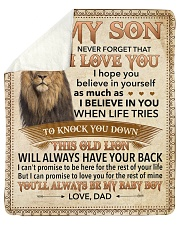 Never Forget That I Love You-Young Lion Dad-To-Son Sherpa Fleece Blanket tile