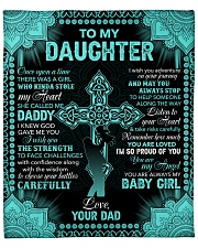 "I Am So Proud Of You The Cross Dad To Daughter Fleece Blanket - 50"" x 60"" front"