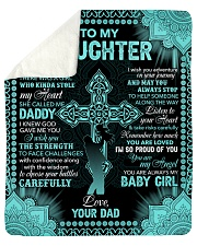 "I Am So Proud Of You The Cross Dad To Daughter Sherpa Fleece Blanket - 50"" x 60"" thumbnail"