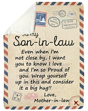 """Even When Im Not Close By MIL To Son-In-Law  Large Sherpa Fleece Blanket - 60"""" x 80"""" thumbnail"""