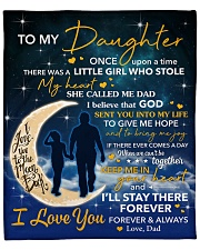 """I Will Stay There Forever Halfmoon Dad To Daughter Fleece Blanket - 50"""" x 60"""" front"""