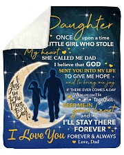 I Will Stay There Forever Halfmoon Dad To Daughter Sherpa Fleece Blanket tile
