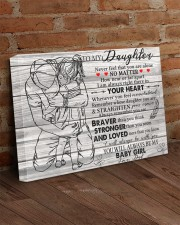 Never Feel That U Are Alone Dad To Daughter 24x16 Gallery Wrapped Canvas Prints aos-canvas-pgw-24x16-lifestyle-front-03
