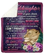 I Want U To Believe Deep In Heart To Granddaughter Sherpa Fleece Blanket tile