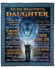 """Lion - Today Is A Good Day Dad-To-Daughter Fleece Blanket - 50"""" x 60"""" front"""