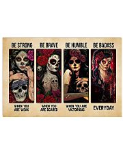 Be Strong Be Brave Be Humble Be Badass Tattoo 17x11 Poster thumbnail