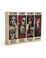 Be Strong Be Brave Be Humble Be Badass Tattoo 14x11 Gallery Wrapped Canvas Prints front