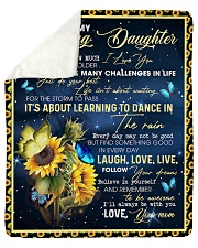 """Never Forget How Much I Love U Mom To Daughter Sherpa Fleece Blanket - 50"""" x 60"""" thumbnail"""