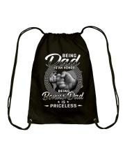 Being Dad Is An Honor Being Bonus Dad Is Priceless Drawstring Bag thumbnail