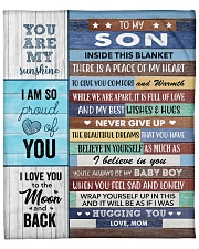 "Inside Blanket A Piece Of My Heart Mom To Son Fleece Blanket - 50"" x 60"" front"