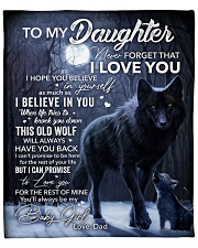 """Never forget that I Love You - Dad to Daughter Fleece Blanket - 50"""" x 60"""" front"""