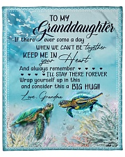 """Turtle - If there ever come a day GM-To-GD Fleece Blanket - 50"""" x 60"""" front"""