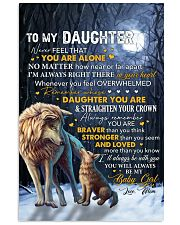 Never Feel That U Are Alone Wolf Mom To Daughter 11x17 Poster thumbnail