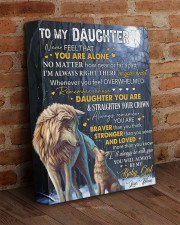 Never Feel That U Are Alone Wolf Mom To Daughter 11x14 Gallery Wrapped Canvas Prints aos-canvas-pgw-11x14-lifestyle-front-09
