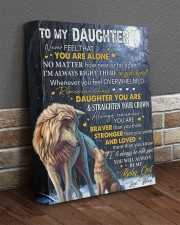 Never Feel That U Are Alone Wolf Mom To Daughter 11x14 Gallery Wrapped Canvas Prints aos-canvas-pgw-11x14-lifestyle-front-10