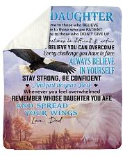 I Believe U Can Overcome Dad To Daughter Sherpa Fleece Blanket tile