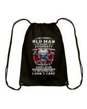 I Am A Grumpy Old Man Drawstring Bag thumbnail