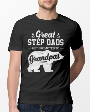 Great Stepdads Get Promoted To Grandpas Classic T-Shirt lifestyle-mens-crewneck-front-13