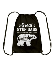 Great Stepdads Get Promoted To Grandpas Drawstring Bag thumbnail