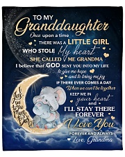 """Moon Once Upon A Time Grandma To Granddaughter Fleece Blanket - 50"""" x 60"""" front"""