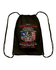 I Am A Grumpy Old Man Was Born In September Drawstring Bag thumbnail