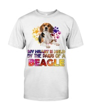 My Heart Is Held By The Paws Of A Beagle Classic T-Shirt thumbnail