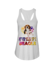 My Heart Is Held By The Paws Of A Beagle Ladies Flowy Tank thumbnail