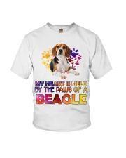 My Heart Is Held By The Paws Of A Beagle Youth T-Shirt thumbnail