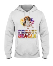 My Heart Is Held By The Paws Of A Beagle Hooded Sweatshirt thumbnail