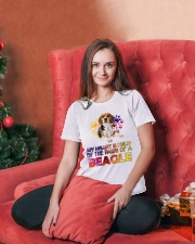My Heart Is Held By The Paws Of A Beagle Ladies T-Shirt lifestyle-holiday-womenscrewneck-front-2