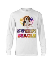 My Heart Is Held By The Paws Of A Beagle Long Sleeve Tee thumbnail