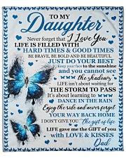 """Never 4get That I Love U Butterfly Dad To Daughter Fleece Blanket - 50"""" x 60"""" front"""