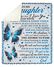 Never 4get That I Love U Butterfly Dad To Daughter Sherpa Fleece Blanket tile