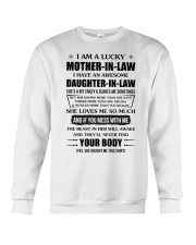 Lucky Mother-In-Law HaveAn Awesome Daughter-In-Law Crewneck Sweatshirt thumbnail