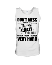 My Aunt Is Crazy And  She Will Punch You Unisex Tank thumbnail