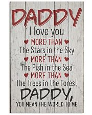 Daddy I Love You more than 11x17 Poster front