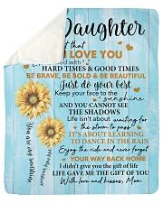 Sunflower Never 4get I Love U Mom-To-Daughter Sherpa Fleece Blanket tile