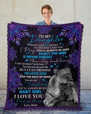 """Wherever Your Journey In Life Mom To Daughter Fleece Blanket - 50"""" x 60"""" aos-coral-fleece-blanket-50x60-lifestyle-front-01"""